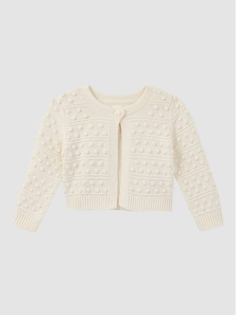 Baby Bobble-Knit Cardi Sweater