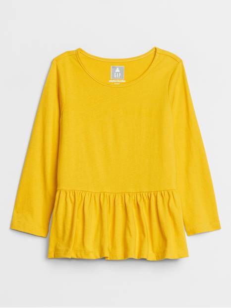 Toddler Long Sleeve Ruffle T-Shirt