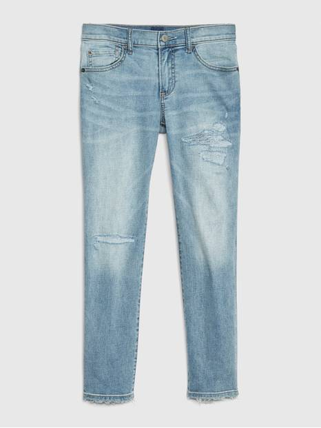 Kids Destructed Slim Jeans with Stretch