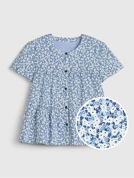 Kids Tiered Printed Shirt