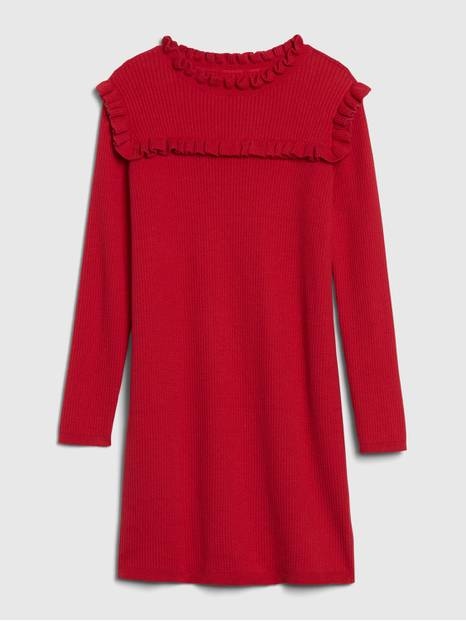 GapKids Ruffle Ribbed Knit Dress