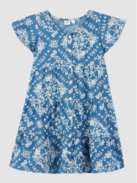 Kids Chambray Tier Dress