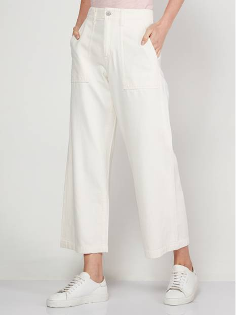 High Rise Wide-Leg Crop Pants