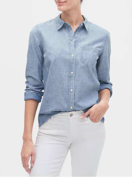Long Sleeve Shirt in Chambray