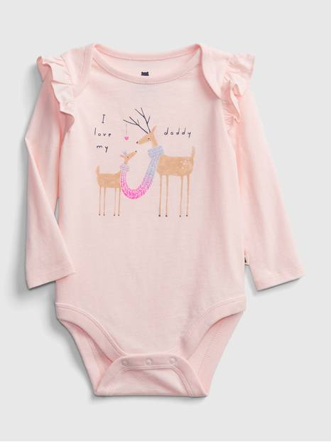babyGap Mix-and-Match Ruffle Graphic Bodysuit