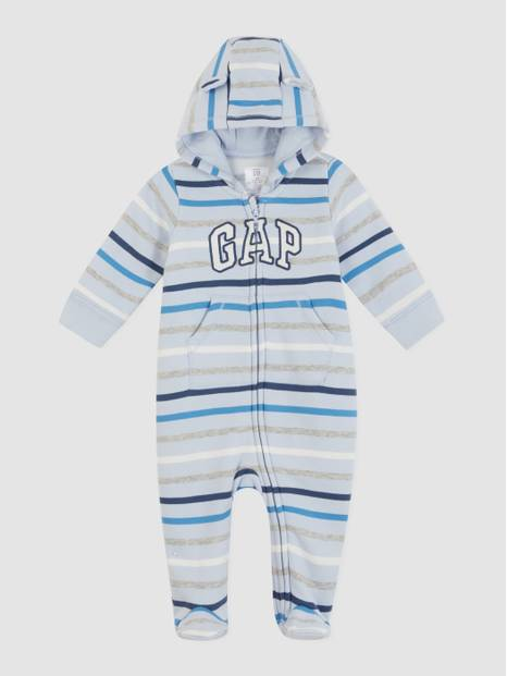 Baby Gap Crazy Stripe Sweater One-Piece Hoodie