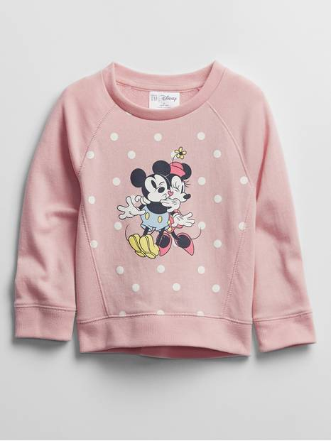 babyGap | Disney Mickey and Minnie Mouse Recycled Crewneck Sweatshirt