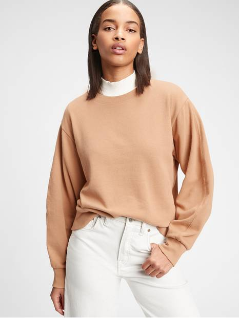 Balloon Sleeve Crewneck Sweatshirt