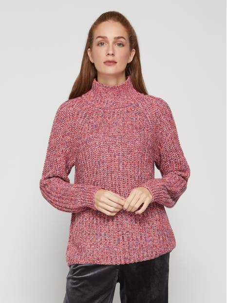 Mockneck Knit Sweater