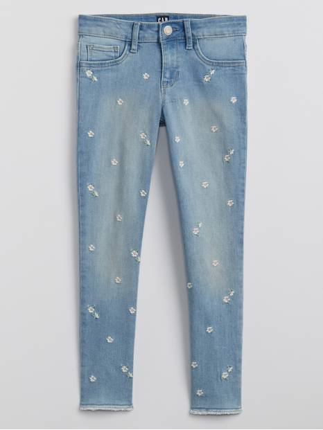 Kids Embroidered Legging Jeans with Stretch