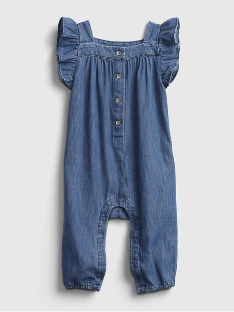 Baby Denim Ruffle One-Piece