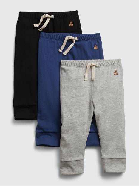 Baby Organic Mix and Match Pull-On Pants (3-Pack)