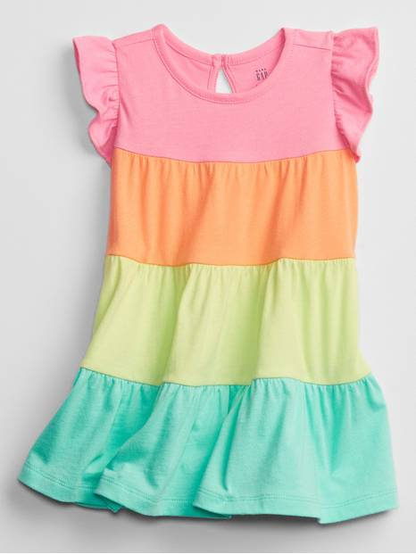 Baby Rainbow Colorblock Dress