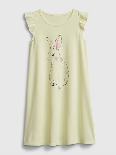 Kids Recycled Bunny PJ Dress