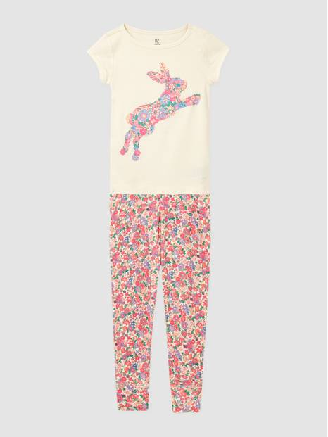 Kids Organic Tie-Dye Heart Graphic PJ Set