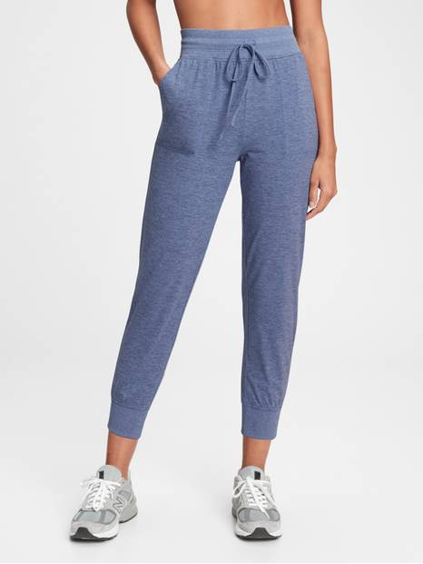 GapFit Brushed Tech Jersey Ankle Joggers