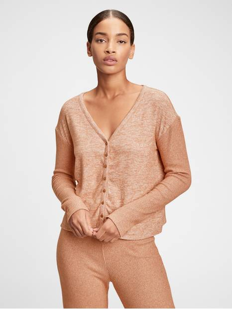 Adult Softspun Ribbed Cardigan