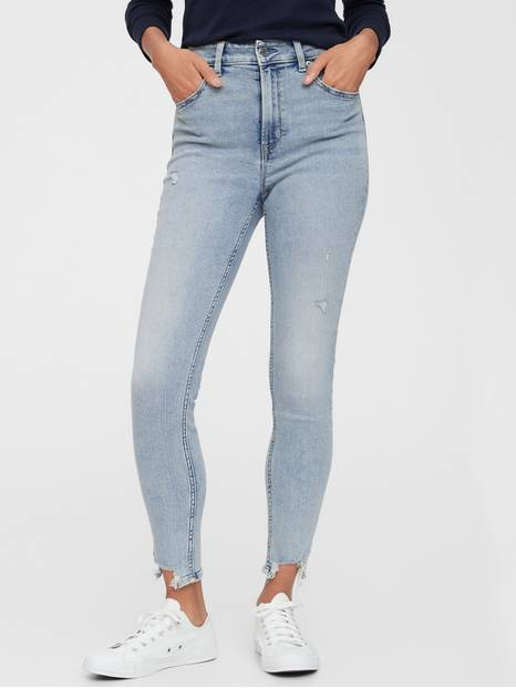 High Rise Universal Legging Jeans with Raw Hem