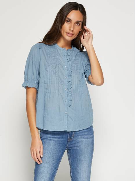 Ruffle Pleated Top