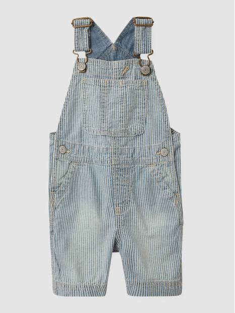 Toddler Denim Shortalls with Washwell&#153