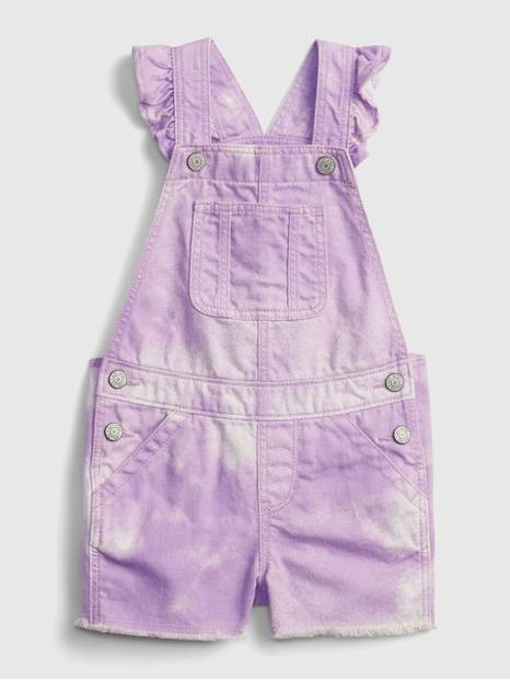Toddler Tie-Dye Denim Shortalls with Washwell &#153